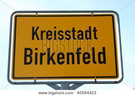 Local Sign Birkenfeld