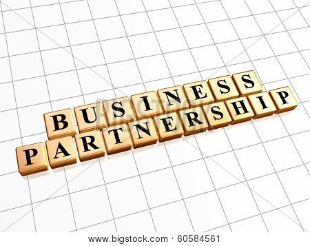 Business Partnership In Golden Cubes
