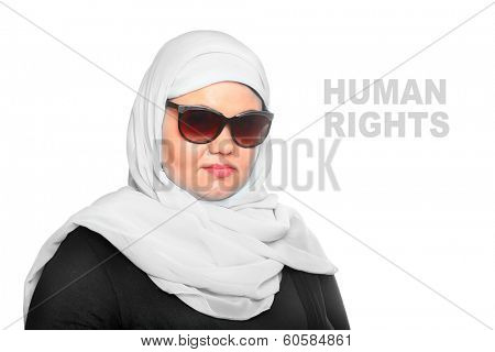 Portrait of a young muslim woman.