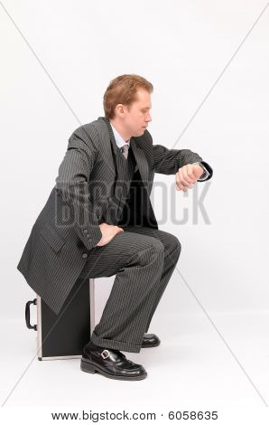 Waiting businessman