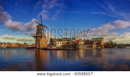 windmill in haarlem, netherland