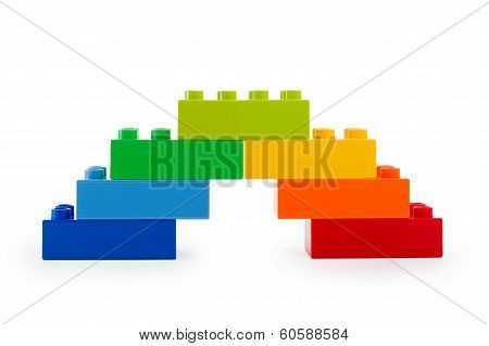A Rainbow Color Lego Stairs