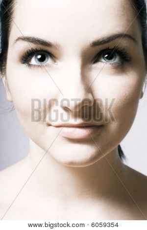 Beautiful Young Womans Face