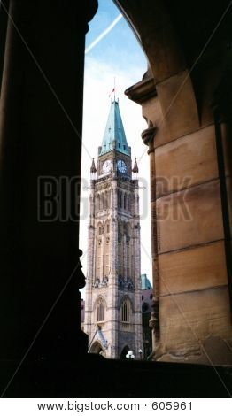 Peace Tower Framed