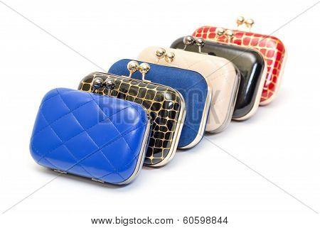 Set Of Fashionable Female Handbags