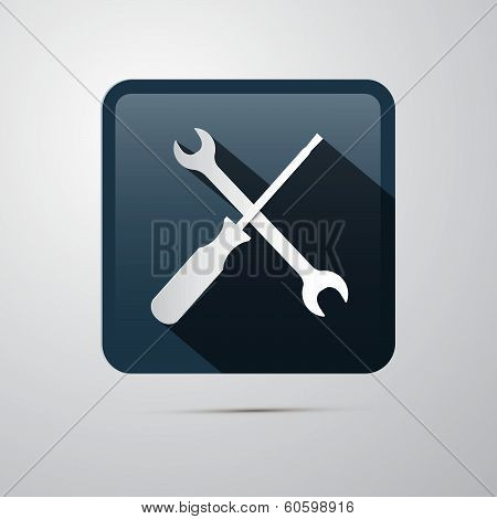 Repair Icon. Screwdriver and Spanner, Wrench.