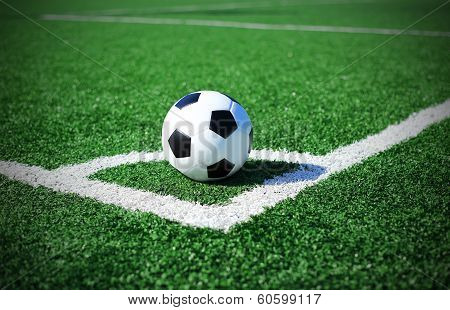 soccer ball on soccer field