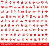 pic of cupid  - Set of 108 love red wedding icons - JPG
