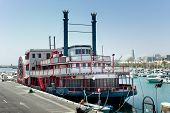 Mississippi Willow Paddle Steamer in Benalmadena