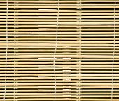 stock photo of jalousie  - close up of the wooden roll - JPG