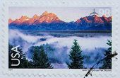 UNITED STATES OF AMERICA - CIRCA 2009: Stamp printed in the USA shows Grand Teton National Park, Wyo