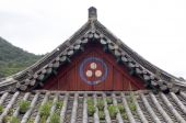 pic of seoraksan  - Traditional Roof of a House in Soreaksan National Park South Korea - JPG