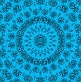 Abstract Blue Background With Pattern