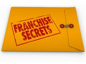 stock photo of food chain  - Franchise Secrets Yellow Envelope Classified Information Tips Advice - JPG