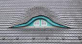 stock photo of gabled dormer window  - Detailed view of a Dormer  - JPG