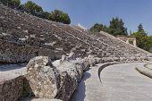 stock photo of epidavros  - Concentric patterns of Epidaurus ancient Greek theatre - JPG