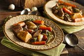 picture of stew  - Homemade Irish Beef Stew with Carrots and Potatoes
