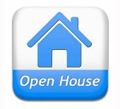 picture of model home  - Open house sign banner or placard for renting or buying a new home visit a real estate property model house - JPG