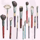 foto of blush  - Make up brushes collection - JPG