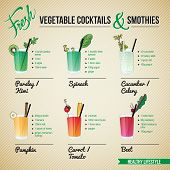 FRESH VEGETABLE COCTAILS & SMOTHIES 	FRESH VEGETABLE COCKTAILS & SMOTHIES