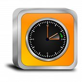 stock photo of daylight saving time  - decorative orange daylight saving time button 3d - JPG