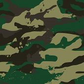 stock photo of khakis  - Khaki jungle camouflage in a seamless repeat pattern - JPG