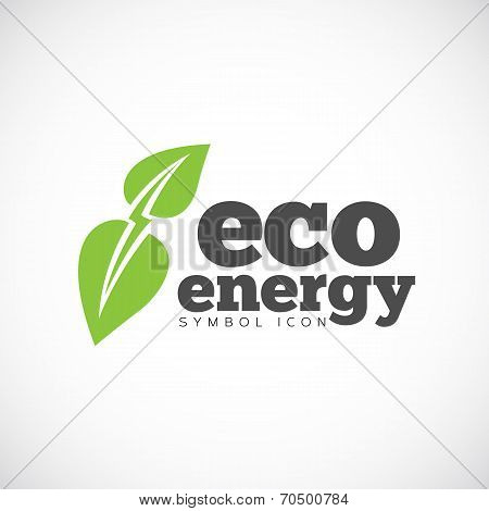 Eco Energy Vector Concept Symbol Icon or Logo Template