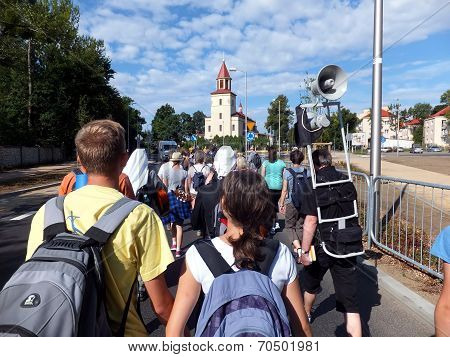 CZESTOCHOWA MIOTEK, POLAND - AUGUST 20, Pilgrimage To Our Lady Of Jasna Gora In Czestochowa
