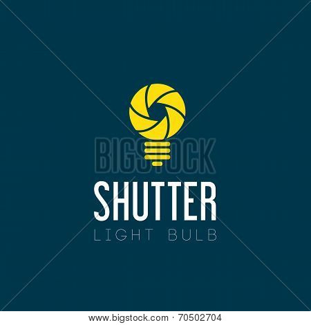Shutter Light Bulb Abstract Symbol Icon