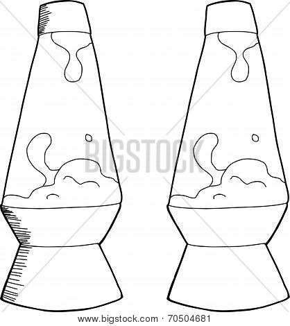 Outlined Lava Lamp