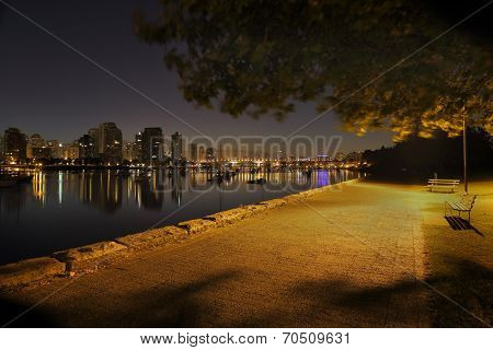 False Creek Seawall Twilight