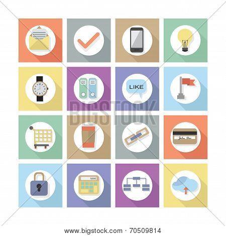 Modern flat web design icons, Set 2