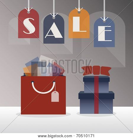 SALE hanging tags - with gift bag and gift boxes