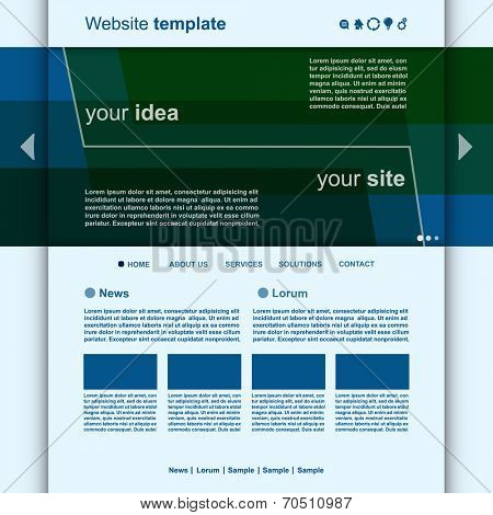 Website Template Minimal Design vector