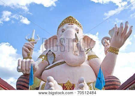 NAKORN NAYOK, THAILAND - NOV 29, 2010: Ganesha Statue