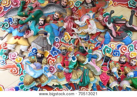 Statues Of Deities In Chinese Temples.