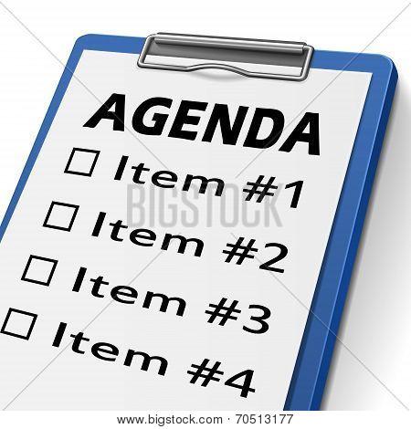 Agenda Clipboard
