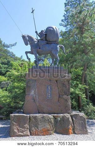 Japanese warlord stature Kanazawa Japan