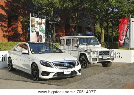 Mercedes- Benz cars at National Tennis Center during US Open 2014