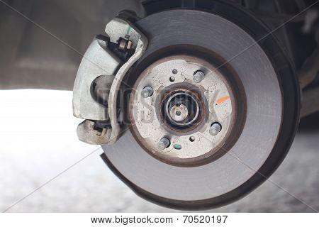 Repaired Equipment Of Car Brake Disc.