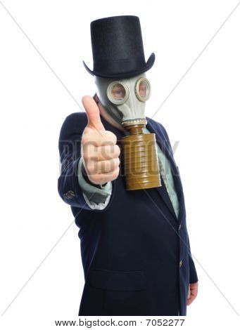 Gas Mask Business Man