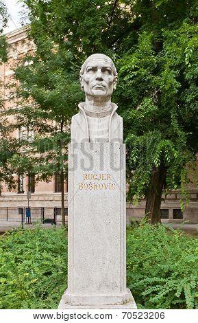 Roger Joseph Boscovich Sculpture (1911) In Zagreb, Croatia