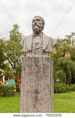 August Senoa Sculpture (xix C.) In Zagreb, Croatia
