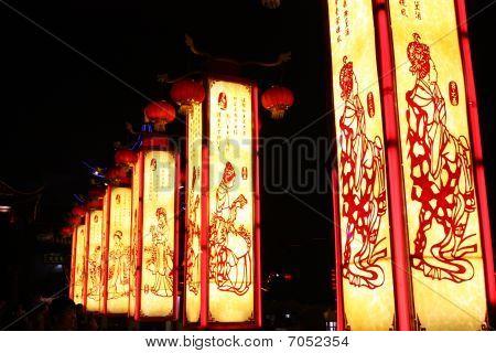 revolving scenic lantern