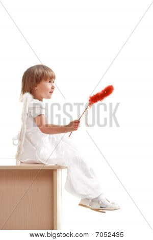 Little Girl With Red Magic Wand