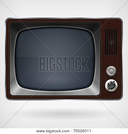 Vintage TV, vector illustration