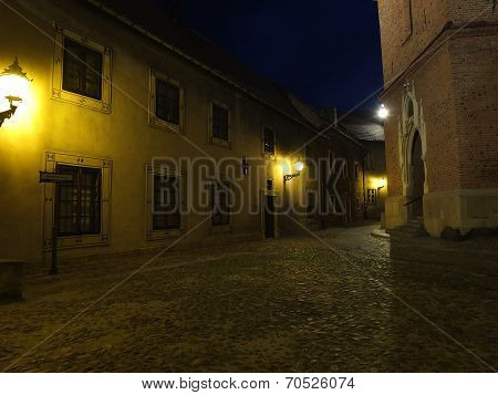 An old street in the city of Tarnow in Poland