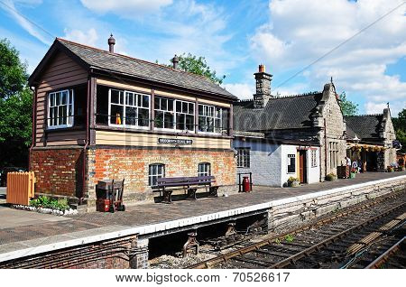 Signal box and railway station, Bridgnorth.