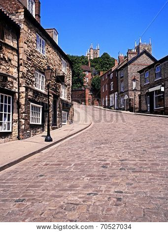 View along Steep Hill, Lincoln.
