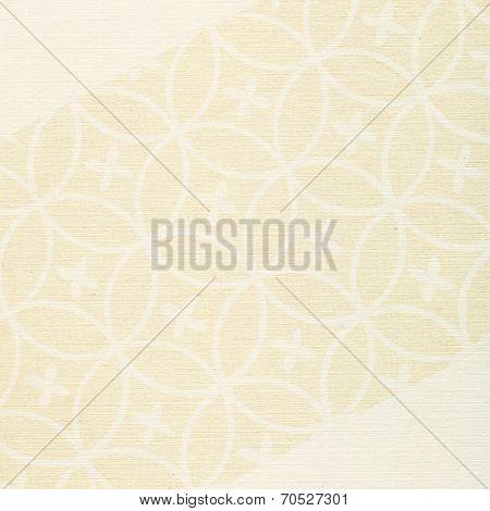 Beige Paper Floral Background Texture